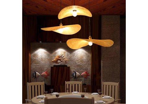 Fine Asianliving Hängelampe Bambus Handgefertigt - Estelle - B50xT45xH8cm