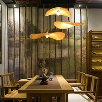 Bamboo Hanging Lamp W50xD45xH8cm Estelle Handmade