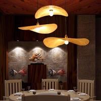 Bamboo Hanging Lamp W60xD55xH8cm Harlette Handmade