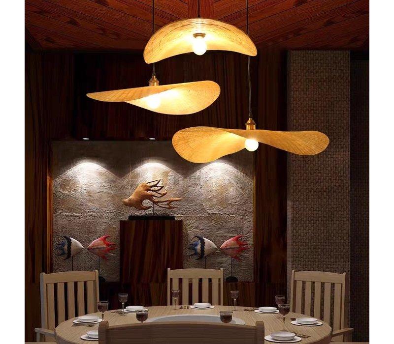 Bamboe Hanglamp Handgemaakt - Harlette B60xD55xH8cm