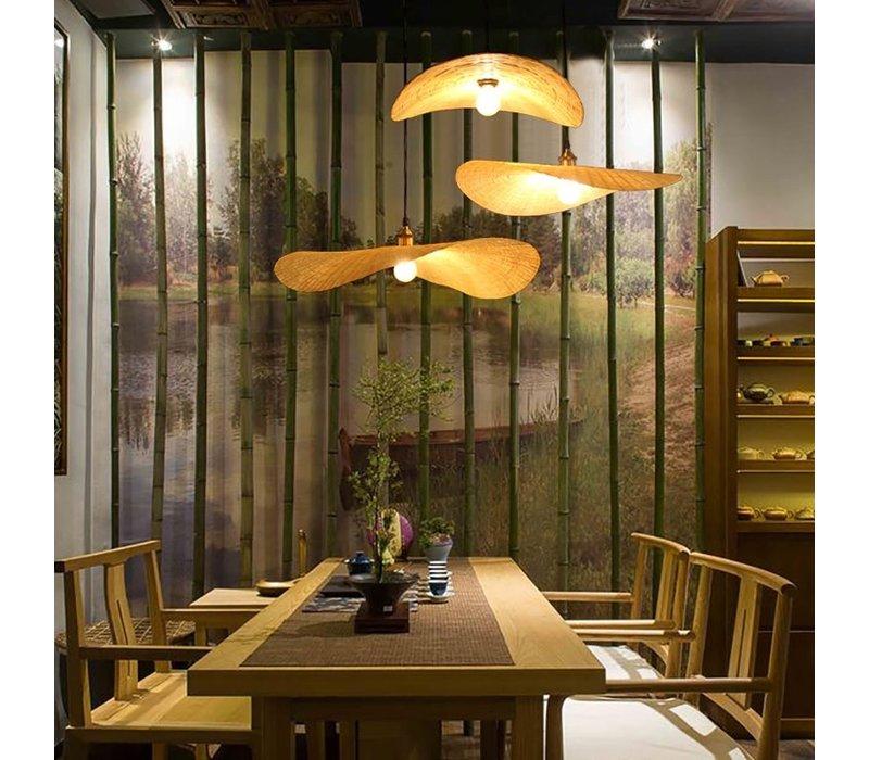 Bamboe Hanglamp B60xD55xH8cm Harlette Handgemaakt