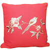 Fine Asianliving  Chinese Cushion Hand-embroidered Peony Bird Red 50x50cm