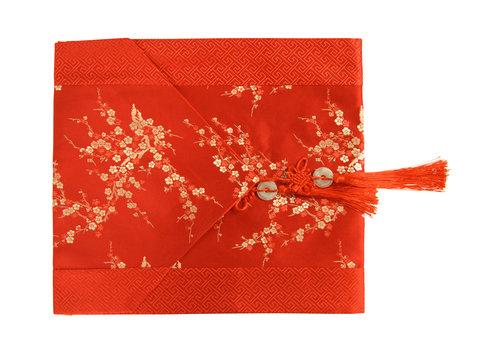 Fine Asianliving Chemin de Table Chinois Rouge Fleurs 33x190cm