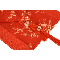 Chinese Table Runner 33x190cm Blossoms Red