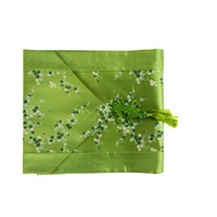 Chinese Table Runner 33x190cm Blossoms Green