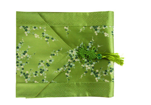 Fine Asianliving Chinese Table Runner 33x190cm Blossoms Green
