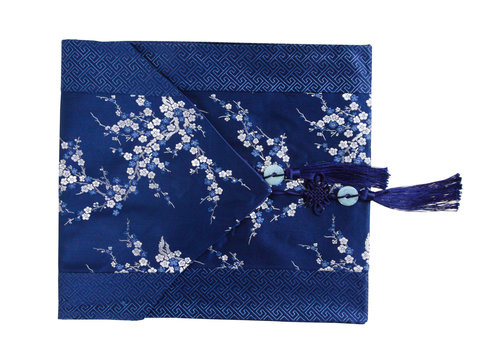 Fine Asianliving Chinese Tafelloper 33x190cm Bloesems Blauw