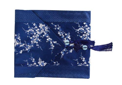 Fine Asianliving Chinesischer Tischläufer Blüten Blau 33x190cm