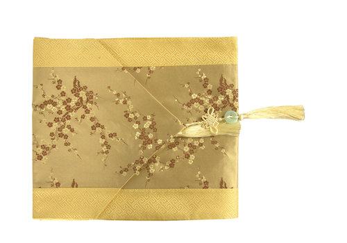 Fine Asianliving Chemin de Table Chinois Beige Fleurs33x190cm