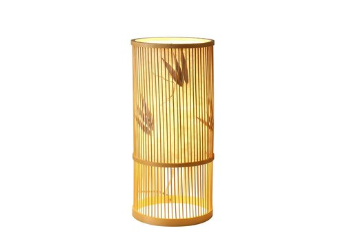 Fine Asianliving Lámpara de Mesa de Bambú Hecha a Mano - Ella - D.18 x Alt.42 cm