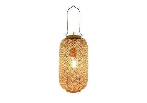 Fine Asianliving Lámpara de Mesa de Bambú Hecha a Mano - Carmen D.17xA60cm
