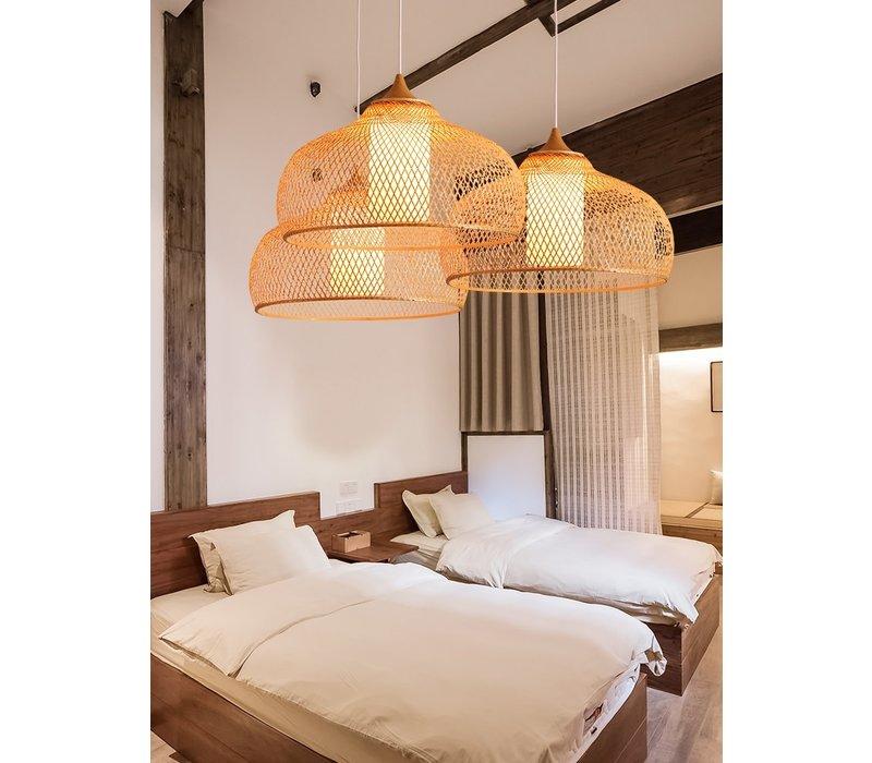 Bamboe Webbing Hanglamp Handgemaakt - Rosa D52xH30cm