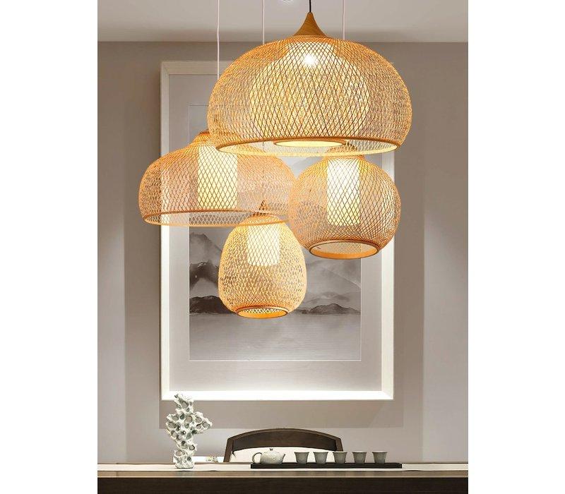 Bamboo Webbing Lamp D52xH30cm Rosa Handmade