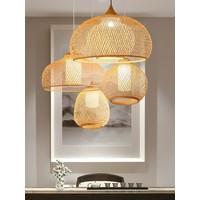 Bamboe Webbing Hanglamp Handgemaakt - Rosalyn D41xH35cm
