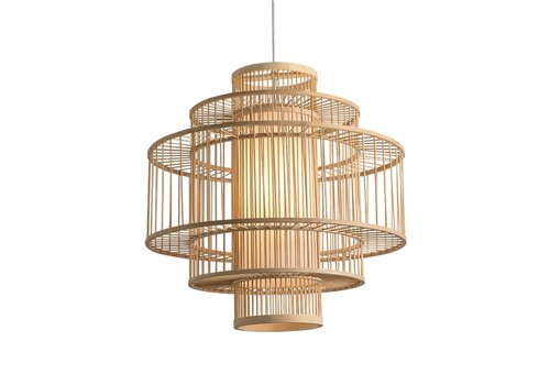 Fine Asianliving Ceiling Light Pendant Lighting Bamboo Lampshade Handmade - Leona