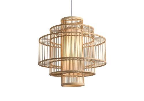 Fine Asianliving Lámpara de Techo Colgante de Bambú Hecha a Mano - Leona