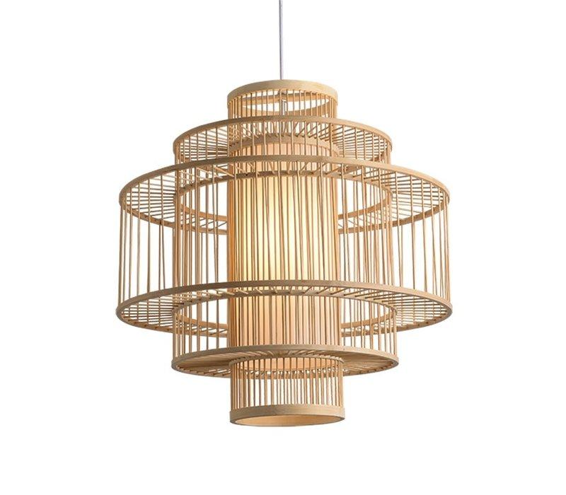 Lámpara de Techo Colgante de Bambú Hecha a Mano - Leona
