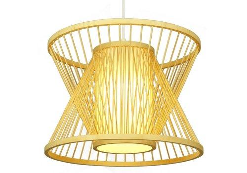 Fine Asianliving Lámpara de Techo Colgante de Bambú - Naomi