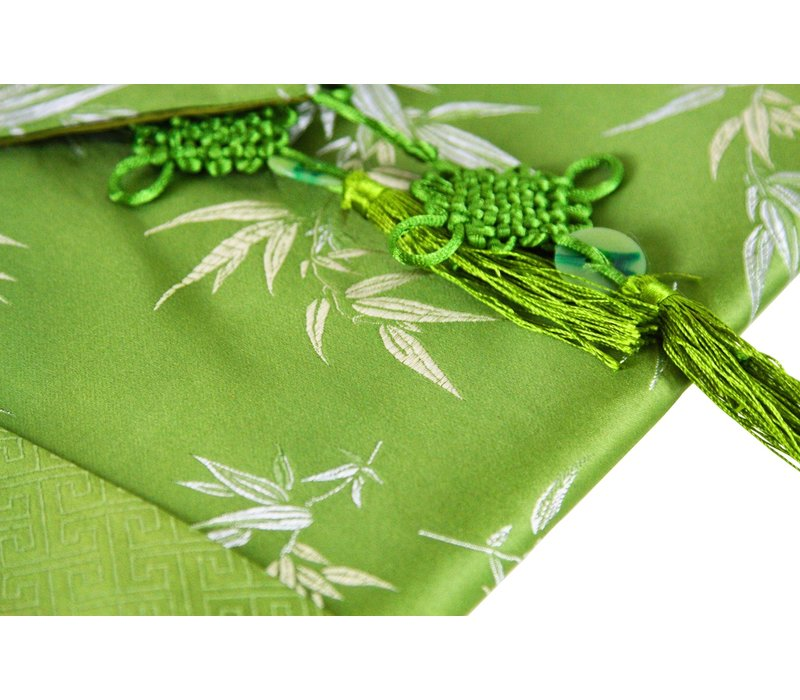 Chinese Table Runner 33x190cm Bamboo Green