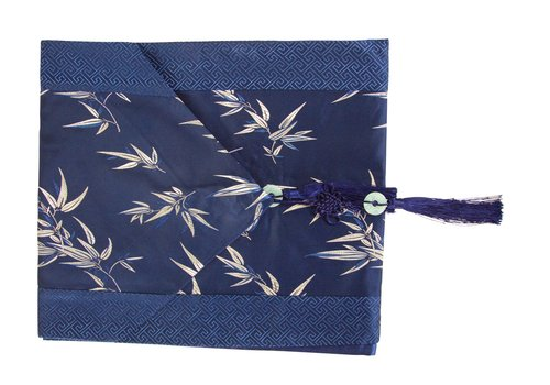 Fine Asianliving Chinese Table Runner 33x190cm Bamboo Blue
