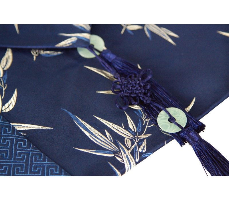 Chinese Tafelloper 33x190cm Bamboe Blauw