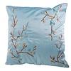 Fine Asianliving Chinese Cushion Sakura Cherry Blossoms Light Blue 40x40cm