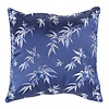 Fine Asianliving Chinese Decoratieve Kussenhoes 40x40cm Navy Bamboe Zonder Vulling