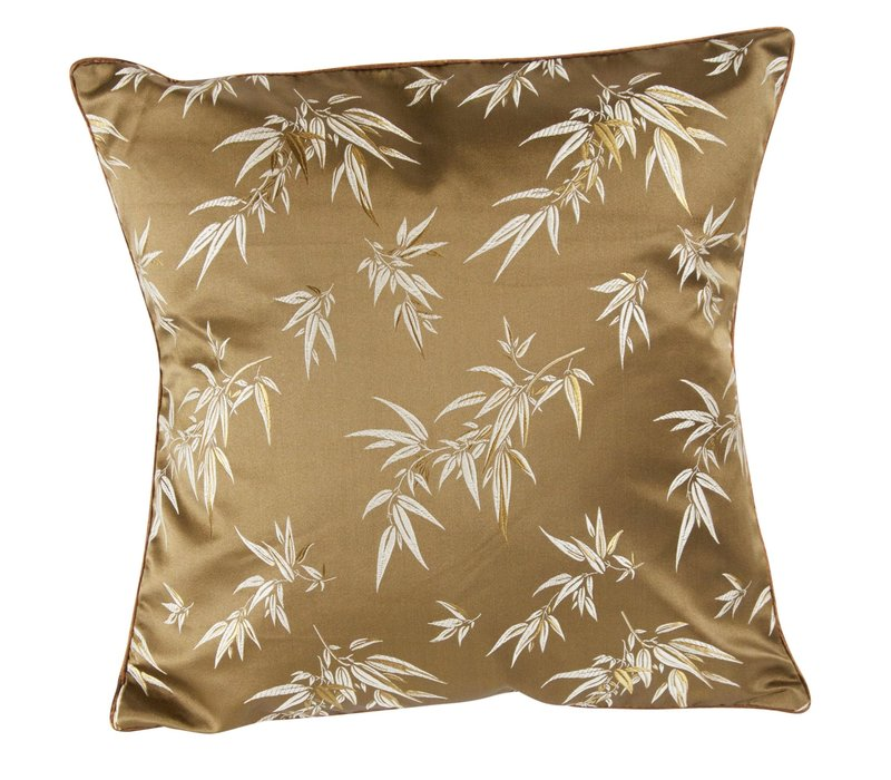 Chinese Cushion Cover 40x40cm Brown Bamboo without Filling