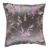 Fine Asianliving Chinese Kussen Bamboe Grijs Roze 40x40cm