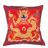 Fine Asianliving Chinese Kussen Volledig Geborduurd Rood Draak 40x40cm