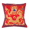 Fine Asianliving Cushion Cover Hand-embroidered Red Dragon 40x40cm without Filling