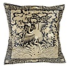Fine Asianliving Cushion Cover Hand-embroidered Gold Crane 40x40cm without Filling
