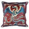 Fine Asianliving Cushion Cover Hand-embroidered Burgundy Phoenix 40x40cm without Filling