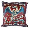Fine Asianliving Kussenhoes Volledig Geborduurd Bordeaux Phoenix 40x40cm Zonder Vulling