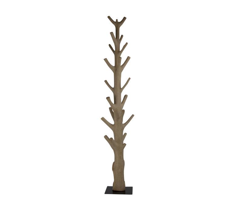 Houten Kapstok Massief Mangosteenwood H190cm Handmade Thailand