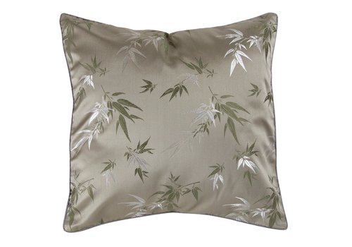 Fine Asianliving Chinese Cushion Bamboo Grey 45x45cm