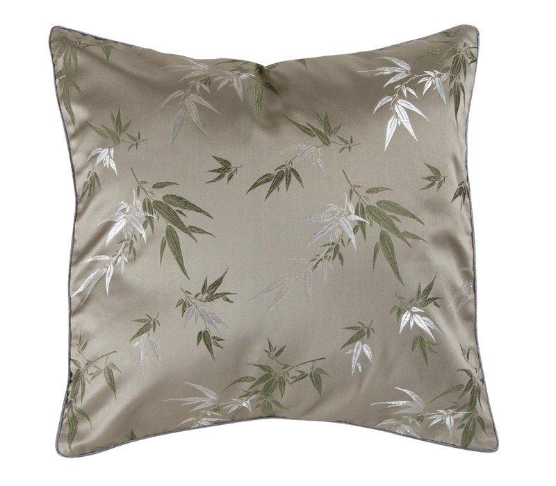 Chinese Cushion Bamboo Grey 45x45cm