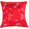 Fine Asianliving Chinese Kussen Bamboe Rood 45x45cm