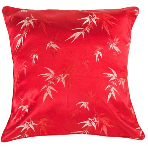 Fine Asianliving Chinese Cushion Bamboo Red 45x45cm