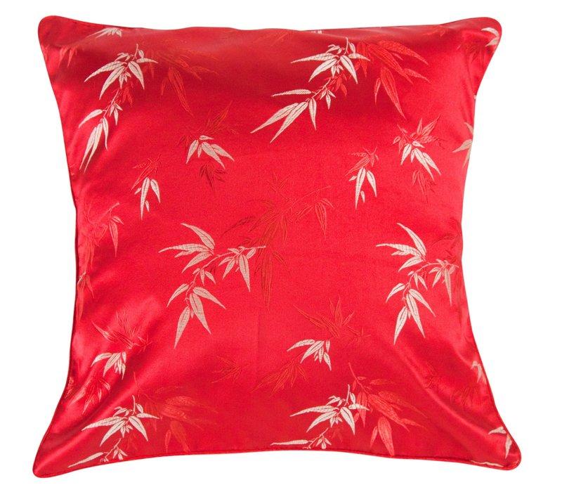 Kissenbezug Rot Bambus 45x45cm ohne Füllung