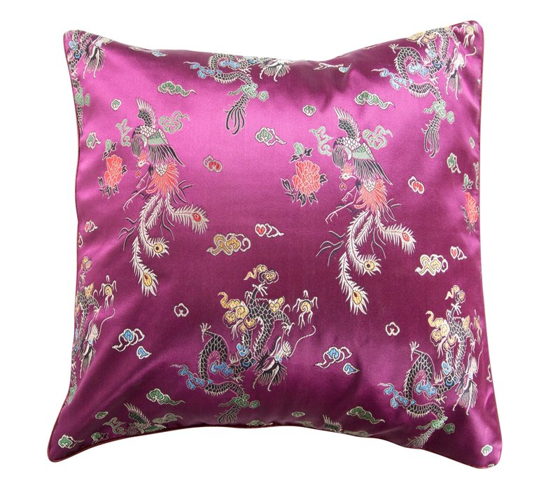 Cushion Cover Dragon Purple 45x45cm without Filling