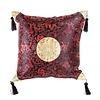Fine Asianliving Chinesisches Kissen mit Quasten Schwarz Rot Drache 45x45cm