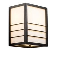 Japanse Wandlamp Shoji Rijstpapier Hout Zwart - Nikko B20xD15xH25cm