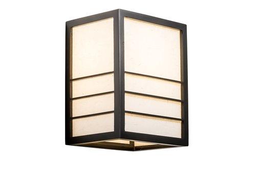 Fine Asianliving Applique en Bois Shoji Papier de Riz Japonaise Noir L20xP15xH25cm