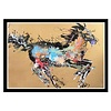 Fine Asianliving Oriental Painting Horse Yellow Background