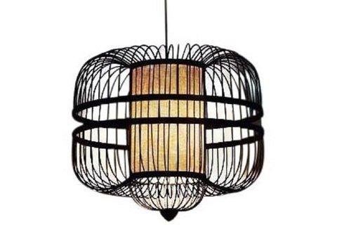 Fine Asianliving Bamboo Pendant Lamp Black Ceiling Lampshade Handmade - Laurent