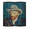 Fine Asianliving Room Divider Privacy Screen 4 Panel Van Gogh Portrait W160xH180cm