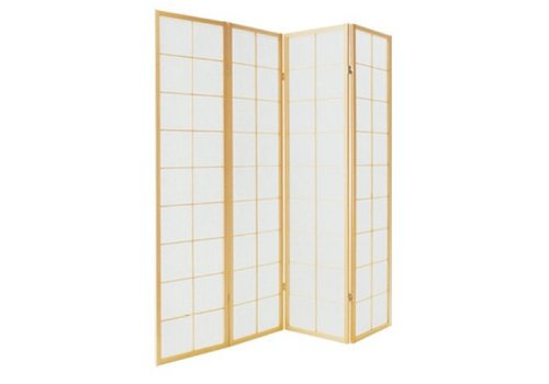 Fine Asianliving Japanese Room Divider 4 Panels W180xH180cm Privacy Screen Shoji Rice-paper Natural