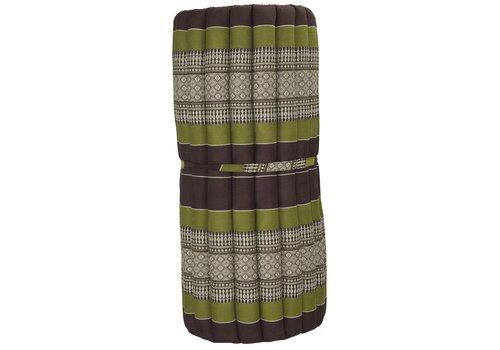 Fine Asianliving Thai Meditation Mat Rollable Mattress 80x200cm Yoga Kapok-Filling Green