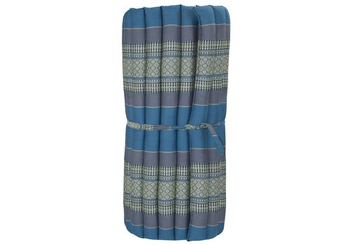 Fine Asianliving Thaimatte Rollbar Kapokfüllung 80x200cm Blau